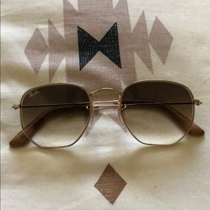 Ray-Ban sunglasses, hexagon shape